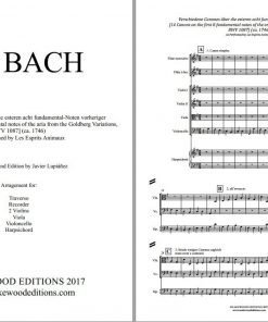 Bach canon 1087 score sheet music