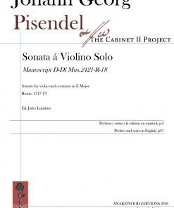 Pisendel – Sonata in E major for violin and continuo (Edition and study, PDF)