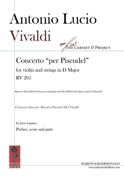 Vivaldi RV 205 score and parts