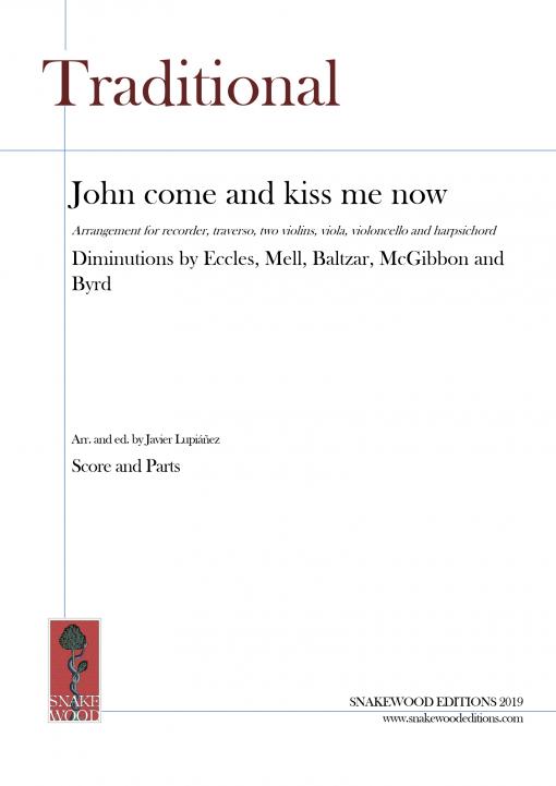 John came kiss me score