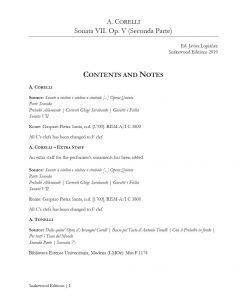 Corelli – Violin Sonata N 7 Op 5 Special edition