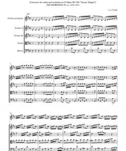 "Vivaldi – Concerto in D RV 208 ""Grosso Mogul"" Score and parts"
