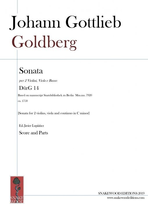 Goldberg – Sonata for 2 violins, viola and continuo in C minor